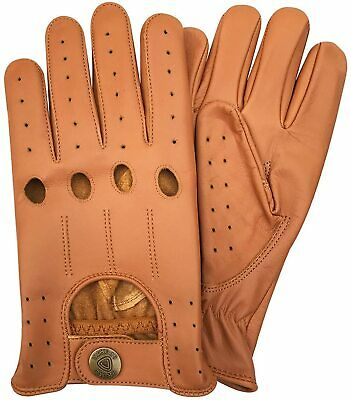 Prime Sports Mens Real Leather Top Quality Driving Glove Free Shipping Worldwide
