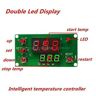 DC12V Digital Intelligent Thermostat Regulator Temperature Controller Switch LED