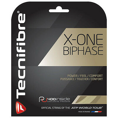 Tecnifibre X-ONE BIPHASE Tennis String - 12m - 1.24mm/17G Natural - Free UK P&P