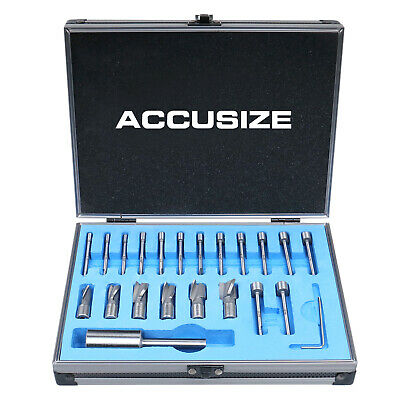 21 Piece High Speed Steel Interchangeable Pilot Counterbore Set, #3620-0121