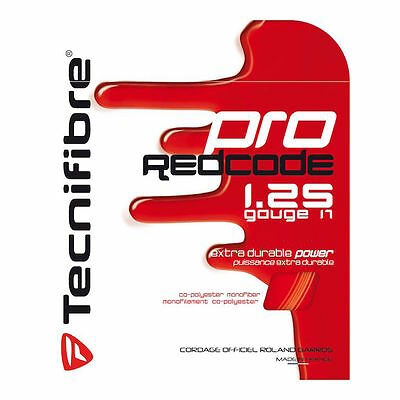 Tecnifibre Pro Red Code - Tennis String - 12m - 1.25mm / 17G Set - RedCode