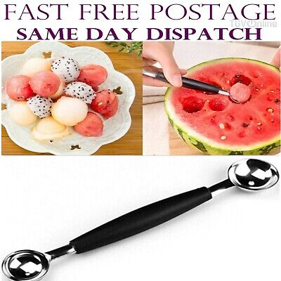 Kitchen Craft Double Ended Stainless Melon Ball Maker Baller Parisienne Scoop
