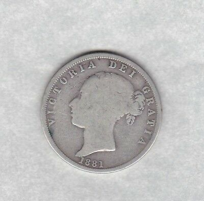 1895 Lix Victorian Old Head Silver Crown In A Well Used Fine Condition
