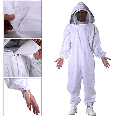 New Professional Cotton Full Body Beekeeping Bee Keeping Suit, with Veil Hood