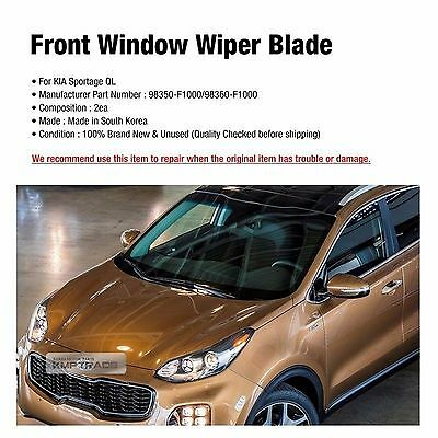 fits 2017 Kia Sportage Wipers 3-Pack Premium Front /& Rear 19260//160//12K