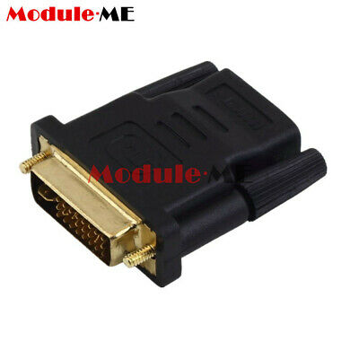 24+5pin DVI Male to HDMI Female adapter Gold-Plated M F Converter For HDTV LCD
