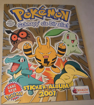 Pokemon Sammel Sticker Album von Merlin 2001