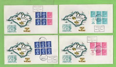 G.B. 1971 set of ten booklet pane First Day Covers, Isle of Wight