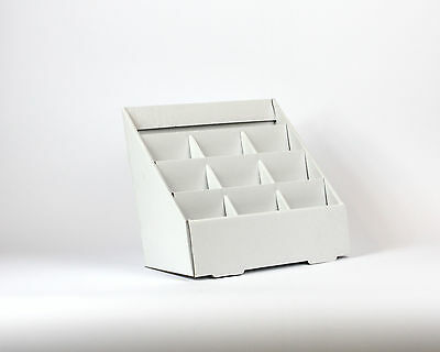 Cardboard Counter Display Unit - 9 Bay - Holds DL or A6 size