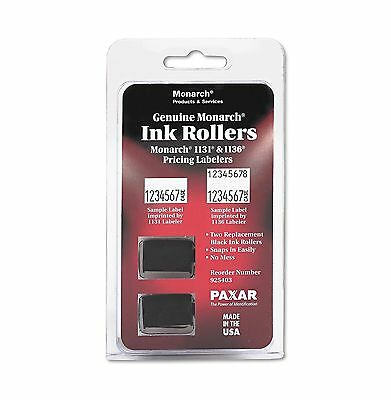Monarch 1131 / 1136 Pricemarker Ink Roller Black 2 Count MNK925403 - New Item