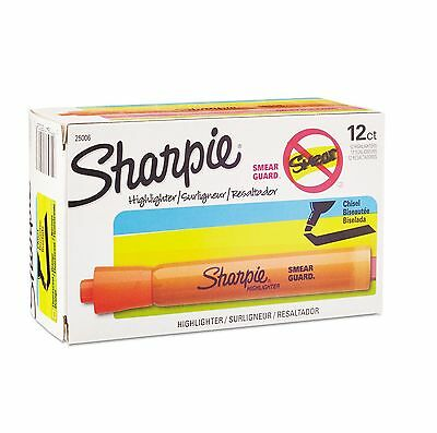 Sharpie Accent Tank Style Highlighter Chisel Tip 12 Count SAN25006 Orange