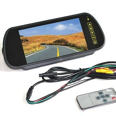 "Car, Van LCD 7"" Mirror Monitor, Display, Screen For Use With Reversing Camera"