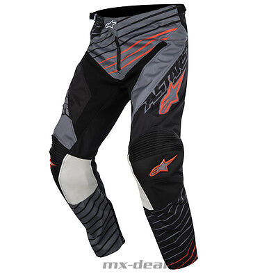 2017 Alpinestars Racer Braap Grau Orange mx motocross Cross Hose 32 34 36 38 40
