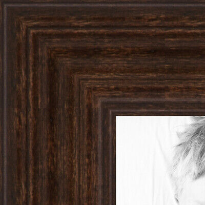 """ArtToFrames Custom Picture Poster Frame Brown Walnut on Maple 1"""" Wide Wood"""