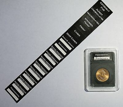 5 Pak Premier Certified Style Coin Holder for American Silver Eagle w//Labels