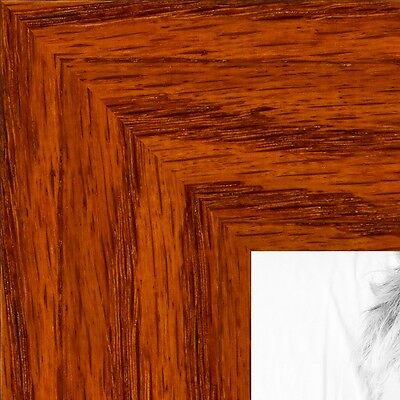 "ArtToFrames Custom Picture Poster Frame Brown Honey Stain on Oak 1.5"" Wide Wood"