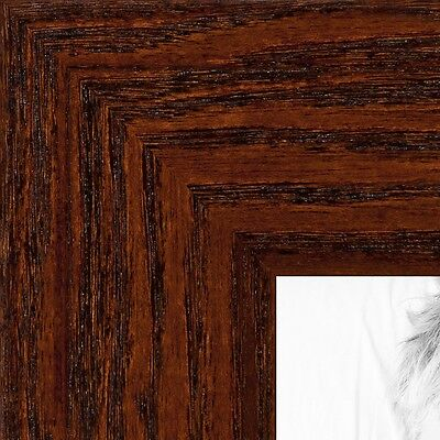 """ArtToFrames Custom Picture Poster Frame Brown Walnut Stain on Oak 1.5"""" Wide Wood"""