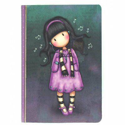 Gorjuss by Santoro London A5 'Stitched' PVC Covered Notebook - Little Song