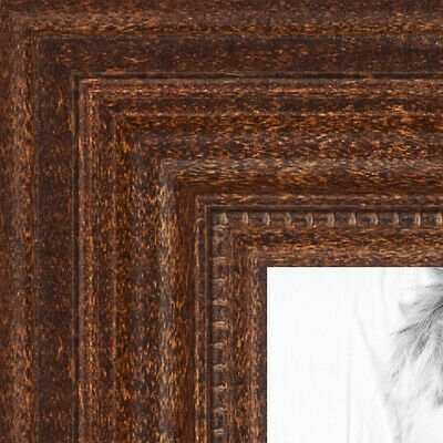 """ArtToFrames Custom Picture Poster Frame Brown Walnut stain 1.25"""" Wide Wood"""
