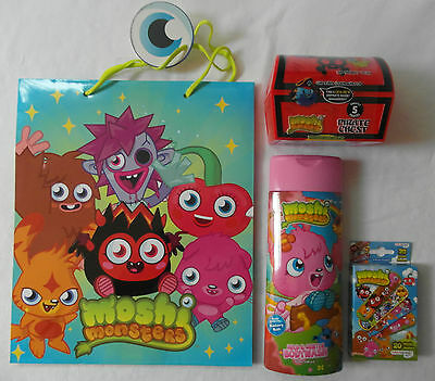 Moshi Monsters - Shower Gel Plasters Pirate Chest Toothpaste Toothbrush Gift Bag