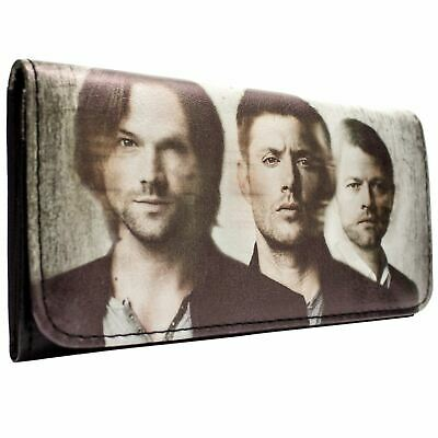 New Official Warner Bros Supernatural Tv Cast White Coin & Card Tri-Fold Purse