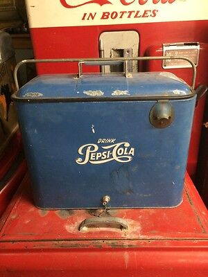 Vintage Pepsi A4 Tall Cooler!! Coca Cola 7Up Rare!! Make An Offer!!