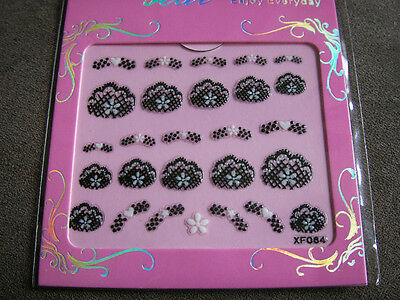 stickers bijou ongles nail art french gel uv manucure acrylique  gothique  xf064