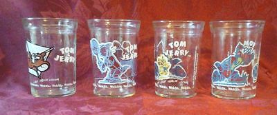 Set of 4 Welch's Jelly Tom and Jerry glasses 1990-1991