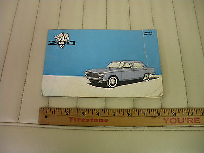1966 Peugeot 204 Owners Instruction and Maintenance Manual FRENCH