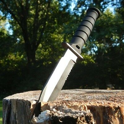 "6"" TACTICAL COMBAT NECK KNIFE Survival Hunting MILITARY DAGGER BOWIE Fixed Blade"