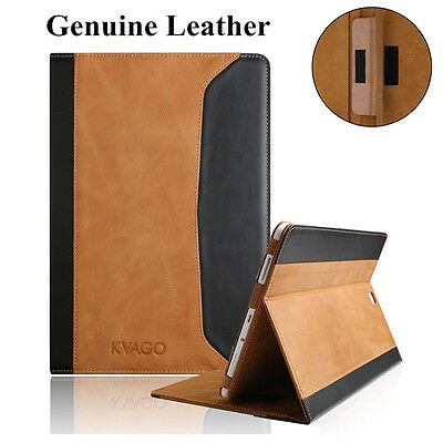 For Samsung Galaxy Tab A 10.1'' T580 Real Genuine Leather Case Folio Smart Cover
