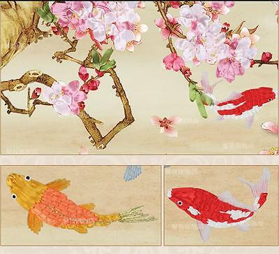 Huge Ribbon Embroidery Kit Nine Fishes Needlework Craft Kit XZ1039