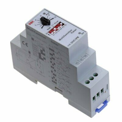 Multifunction Timer Relay Switch 0.6S-100H AC/DC 24-240V (50/60Hz)