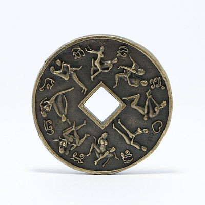 Thai amulet Kama sutra Coin Surprise 16 Lovers & Sex.