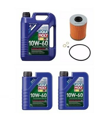 7 Liter 10W60 Synthetic LIQUI MOLY Engine motor Oil + 1 OP Filter kit for BMW