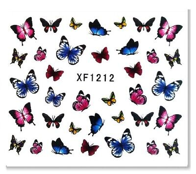 Nail Art Sticker Water Decals Transfer Stickers Butterflies (XF1212)