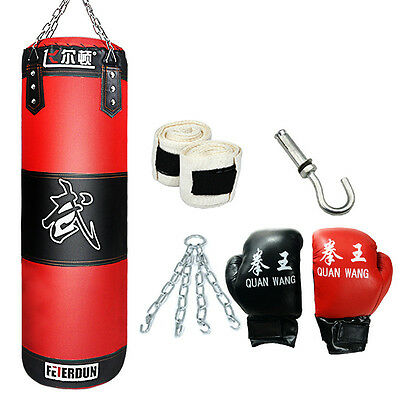 Empty Boxing Punching Bag Heavy MMA Training Fitness Kick Fight Sand Pouch Bag