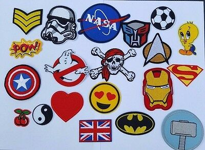 Embroidered Iron On Sew On Patches Badges Transfers - Fancy Dress Brand New