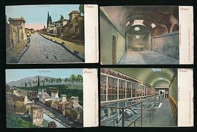 Italy POMPEI Collection 12 Different Views c1902 u/b PPCs pub by E Ragozino