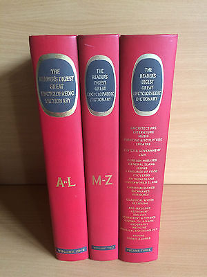 The Reader's Digest Great Encyclopaedic Dictionary Volumes One,Two and Three