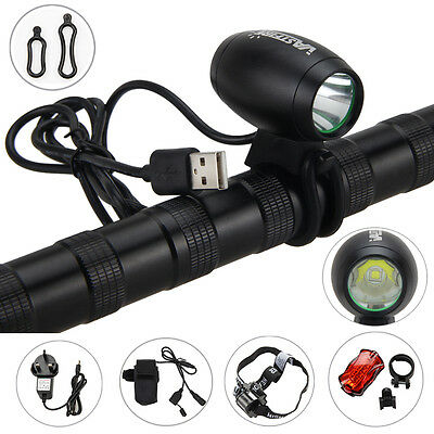 Rechargeable 5000LM 5V USB XM-L2 LED Cycling Front Bicycle Light Head Bike Lamp