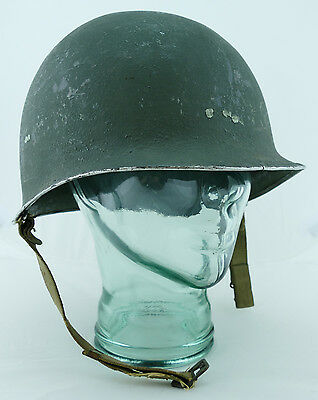 US ORIGINAL Military WWII WW2 Front Seam Fixed Bale Helmet