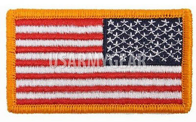 Lot of 10 New American Reversed Military US Flag Embroidered Patch Iron/Sew On