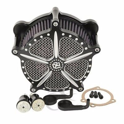 Black Screaming Eagle Style Air Cleaner,cv Carb Harley Softail Dyna Touring