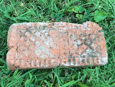 Rare Antique street paver brick Symmetrical Pattern Ks Kansas sidewalk Geometric
