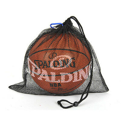 SPALDING Single Mesh 7Size Ball Carrier Bag Hold Basketball Carry Net Luggage