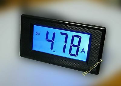 DC +/-9.99A 0-10A LCD Forward Reverse Digital Current Meter Ammeter With Shunt