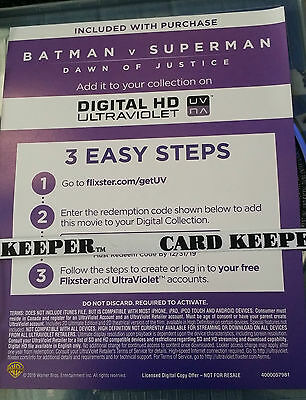 Batman V Superman Dawn of Justice Digital HD Ultraviolet Voucher
