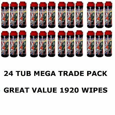 **MEGA VALUE**PACK OF 24**NEW TYPE** Gorilla Wipe Tubs 1920 Wipes FREE DELIVERY
