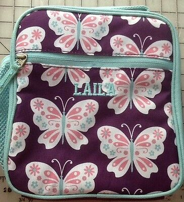 New Pottery Barn Kids  Purple And Pink Butterfly LAIILA Classic Lunch Box Bag